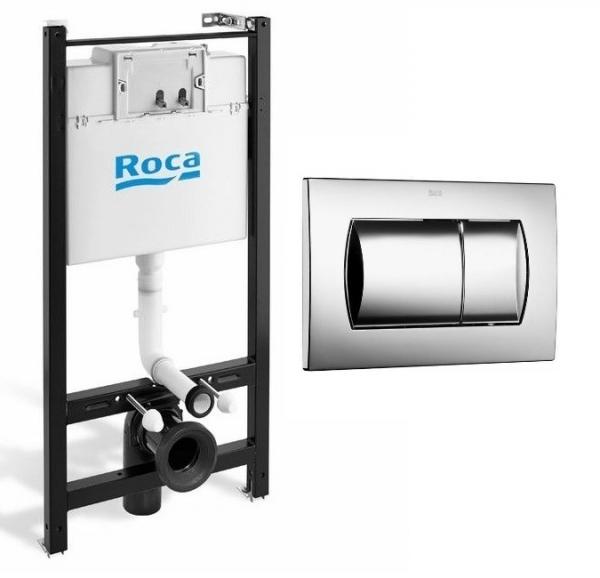 Zestaw promocyjny Roca Active set z przyciskiem chromowanym-image_ROCA ACTIVE PACK CHROM_1