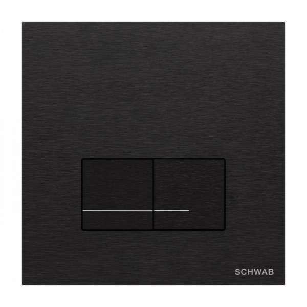 Schwab Arte Duo Alu aluminiowy przycisk do wc w wersji czarnej-image_Opoczno_OK580-004_1