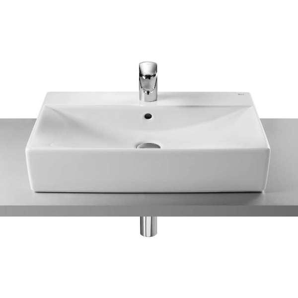 Umywalka uniwersalna Roca Diverta 75x44 cm 327110, umywalke można postawić na blacie lub przykręcić do ściany.-image_Roca_A327110000_1