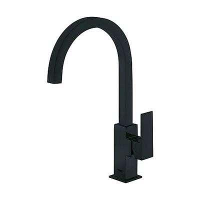 Czarna wysoka bateria umywalkowa z obrotową wylewka Tres Cuadro Black Matt-image_tres_ 00660702nmd_1