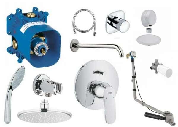 Zestaw podtynkowy prysznicowy Grohe Eurosmat Cosmopolitan, napełnianie wody przez przelew.-image_Grohe_GR/ECOSMO/3NW_1