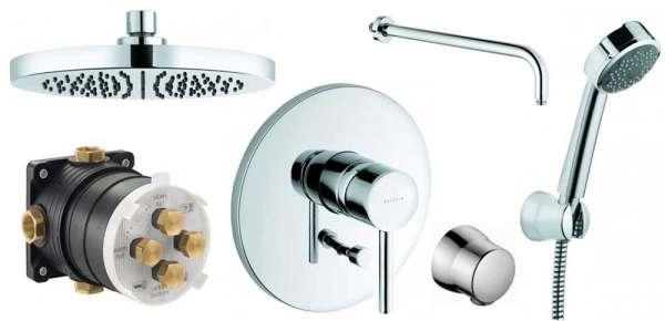 Podtynkowy zestaw prysznicowy Kludi Bozz z okrągłą deszczownicą.-image_Kludi_KL/BOZZ/250_1