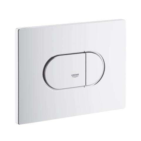 Biały przycisk spłukujący Grohe Arena Cosmopolitan 38858SH0 - do montażu poziomego w spłuczkach podtynkowych wc Grohe Rapid SL.-image_Grohe_38858SH0_1