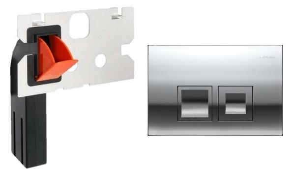 Geberit Delta 50 przycisk spłukujący do wc kolorze błyszczącym w zestawie z kostkarką.-image_Geberit_115135211_1