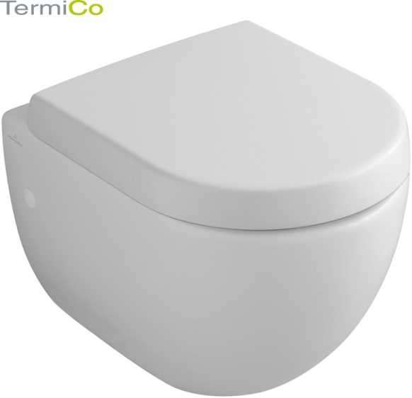Villeroy&Boch Subway krótka miska podwieszana wc o wymiarach 355X480 66041001, do kompletowania z deskami wc, pasuje do każdego stelaża podtynkowego do wc.-image_Villeroy&Boch_66041001_1