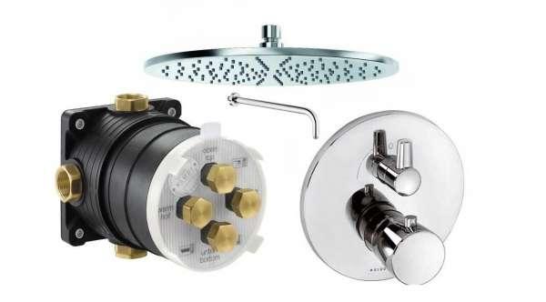Podtynkowy zestaw termostatyczny KLudi Balance z deszczownicą - bez możliwości sterowania dodatkową słuchawką prysznicową.-image_Grohe_KL/BALANCE/T1F_1