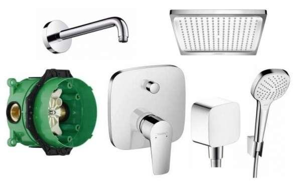 Hansgrohe kompletny zestaw prysznicowy Talis E z desazczownicą-image_Hansgrohe_71745000_1