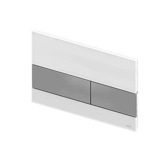 Przycisk spłukujący Tece Square 9.240.801 - w wersji biały/stal szczotkowana.-image_Tece_9.240.801_1