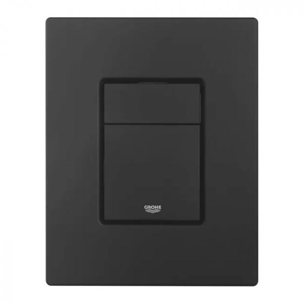 Czarny przycisk spłukujący do spłuczek podtynkowych Grohe Rapid Solido SL z serii Even Skate Cosmopolitan Black