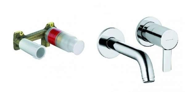 Kompletna bateria umywalkowa podtynkowa Zenta z długością wylewki 18cm-image_Kludi_KL/ZENTA/U180_1