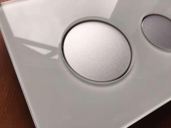 Tece Loop szklany przycisk spłukujący do wc 9.240.652 w wersji obudowa zielone szkło - klawisze spłukujące chrom matowy. Tylko i wyłączenie do spłuczek Tece.-image_Tece_9.240.652_1