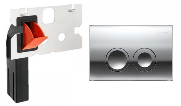 Geberit Delta 21 przycisk spłukujący do wc kolorze błyszczącym w zestawie z kostkarką.-image_Geberit__1