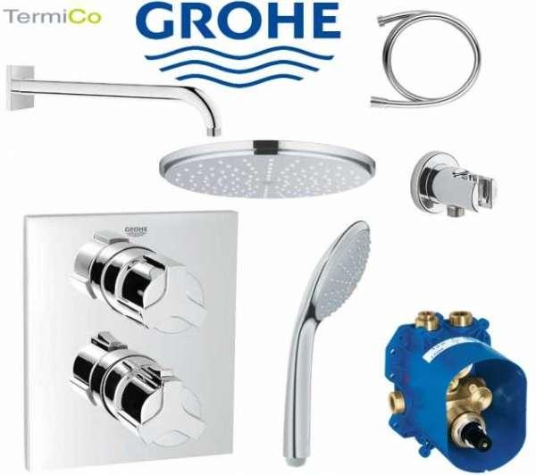 Podtynkowy termostatyczny zestaw prysznicowy Grohe Allure z deszczownicą 210mm.-image_Grohe_GR/ALLURE/RAINSHOWER_1