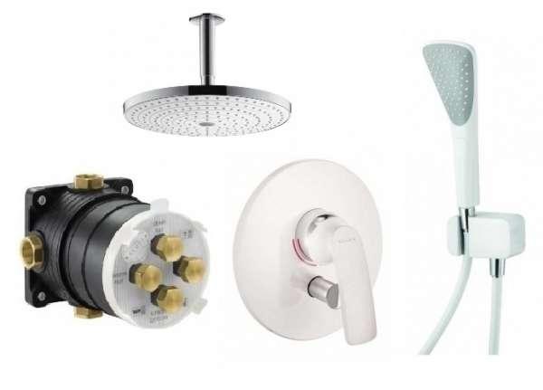 Kludi biały zestaw pod prysznic Balance z deszczownicą 30cm KL/BALANCEW/300-image_Hansgrohe / Kludi_KL/BALANCEW/300_1