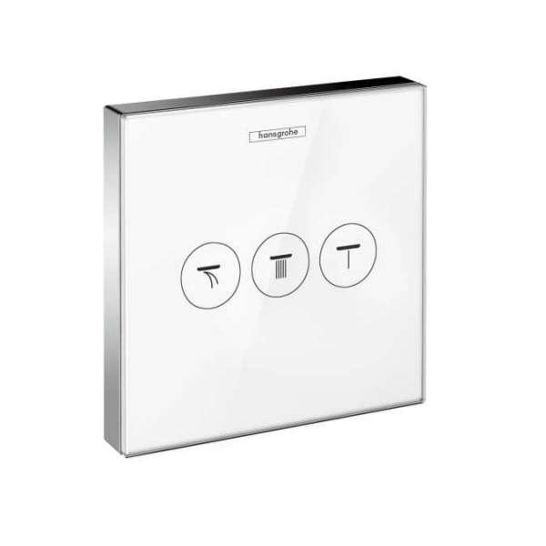 Hansgrohe ShowerSelect Glass zawór dla 3 odbiorników biały/chrom 158736400-image_Hansgrohe_15736400_1
