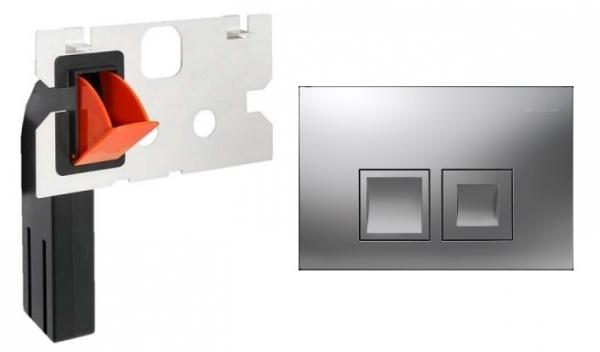 Geberit Delta 50 przycisk spłukujący do wc kolorze matowym w zestawie z kostkarką.-image_Geberit_115135461_1