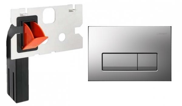 Geberit Delta 51 przycisk spłukujący do wc kolorze matowym w zestawie z kostkarką.-image_Geberit_115105461_1