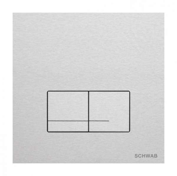 Aluminiowy przycisk do wc Schwab Arte Duo Alu -image_Roca_A801511004_1