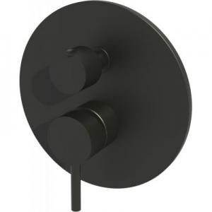 Trójdrożna podtynkowa bateria wannowa Paffoni Light Black LIG019NO czarny mat -image_Paffoni_LIG019NO_1
