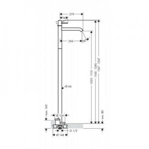 Dane techniczne baterii Axor Uno 38037000-image_Axor_38037000_2