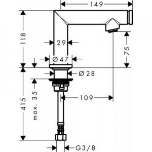 Dane techniczne Axor Uno 45130000-image_Axor_45130000_2