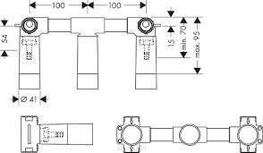 Rysunek techniczny elementu podtynkowego do baterii 10303180-image_Hansgrohe_10303180_3
