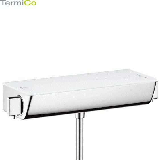 Hansgrohe Ecostat Select 13161400 ścienna termostatyczna bateria prysznicowa w wersji biały/chrom.-image_Hansgrohe_13161400_5
