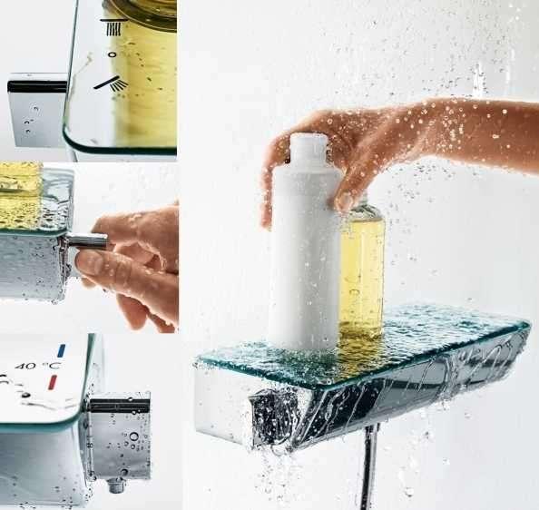 Aranzącja ściennej baterii termostatycznej do prysznica Hansgrohe Ecostat 13161400-image_Hansgrohe_13161400_7