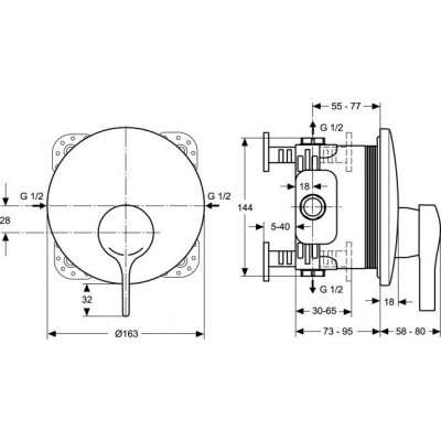 Wymiary techniczne baterii Ideal Standard A4719AA -image_Ideal Standard_A4719AA_2