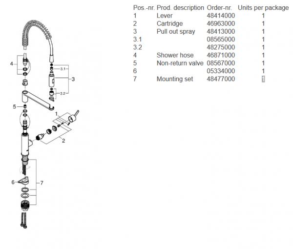 Schemat z częściami zamiennymi do Grohe 30361000 -image_Grohe_30361000_4