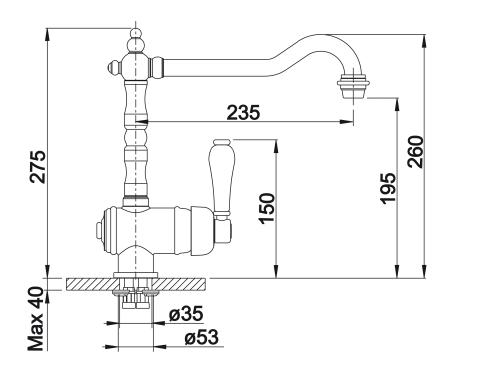 Wymiary techniczne zlewu kuchennego Tradon -image_Blanco_520787_2
