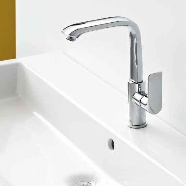 Wysoki kran do umywalki Hansgrohe 31087 000 z obrotową wylewką.-image_Hansgrohe_31087000 _6