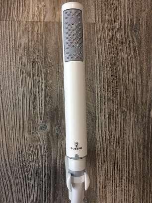 Bossini słuchawka prysznicowa w kolorze białym z wężem i uchwytem zintegrowanym z przyłączem kątowym -image_Bossini_BOSSINI COSMO 280 WHITE_3