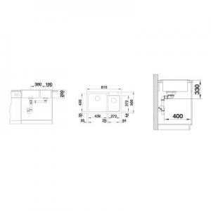 Dane techniczne zlewozmywaka kuchennego Blanco Naya 8 519648-image_Blanco_519648_2