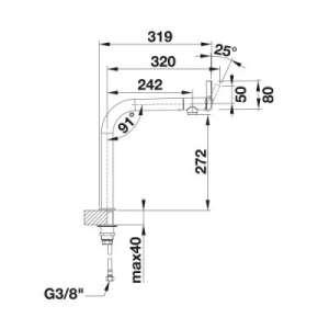 Wymiary techniczne baterii Vonda-image_Blanco_518435_2