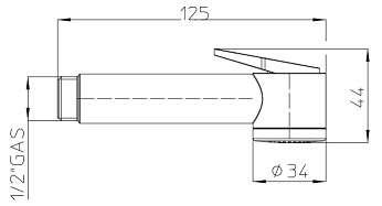 Rysunek techniczny bidetki Bossini Paloma B00442 -image_Bossini_B00442_2