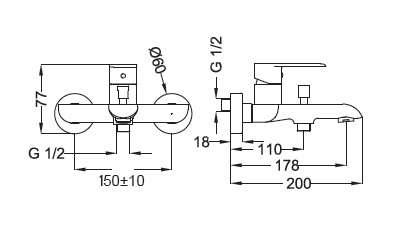 Dane techniczne baterii Torema XS 8x160BB-image_Teorema_8X160BB-009_2
