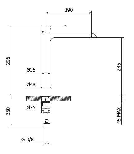 Dane techniczne baterii umywalkowej Teorema XS 8x370BB-image_Teorema_8X370BB-009_2
