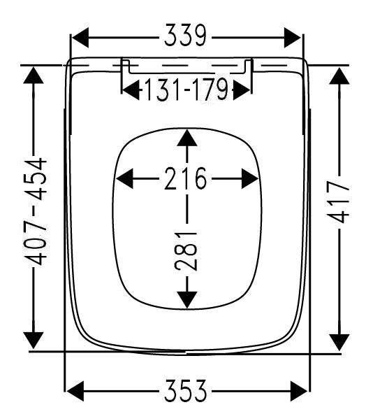 Wymiary techniczne deski wolnooopadającej Freddy do misek podwieszanch Roca Gap-image_MKW_FREDDYS_2