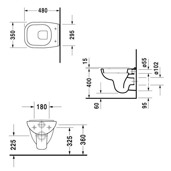 wymiary techniczne miski wiszącej D-Code 22110900002-image_Duravit_22110900002_3