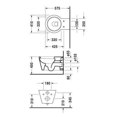 Parametry miski podwieszanej Starck 1-image_Duravit_0210090064_6