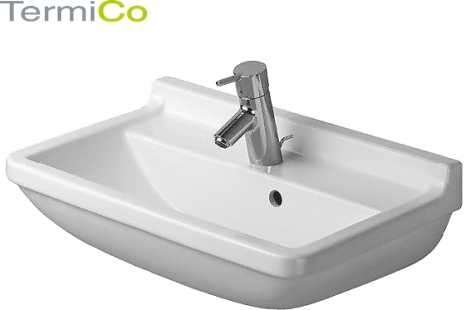 Starck 3 Compact umywalka 55 z otworem na baterie 030155-image_Duravit_0301550000_4
