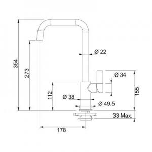 Dane techniczne baterii kuchennej Franke Elegance 115.0296.787-image_Franke_1150296787_2