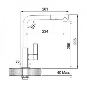 Dane techniczne baterii kuchennej Franke Maris Pull-Out Spray 115.0392.357-image_Franke_1150392357_2