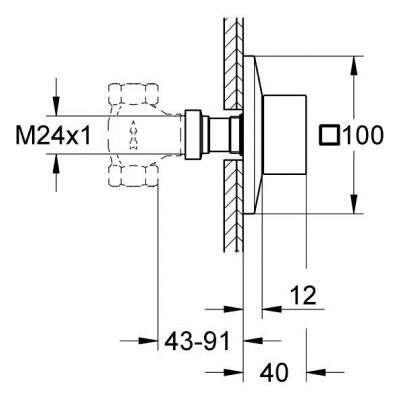 Wymiary techniczne elementu zewnętrznego Grohe Allure Brilliant 19796000-image_Grohe_19796000_3
