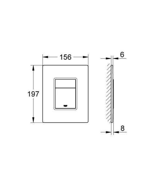 Wymiary przycisku Grohe 389160A0-image_Grohe_389160A0_5