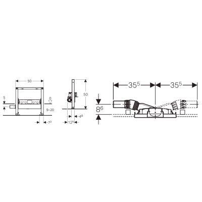 Rysunek techniczny odpływu ściennego Geberit Duofix 111.591.00.1-image_Geberit_111.591.00.1_3