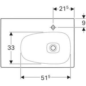 Wymiary techniczne umywalki Grohe 500546011-image_Geberit_500546011_2