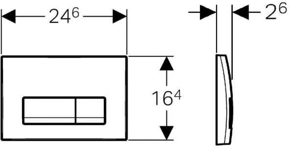 Rysunek techniczny przycisku spłukującego Geberit Delta 51 115.105.46.1-image_Geberit_115.105.46.1_3