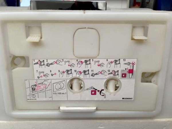 Jeżeli nie jesteś pewien jaki masz stelaż - te zdjęcie pomoże w jego identyfikacji - miejsce możtażu przycisków Delta.-image_Geberit_115.135.11.1_8